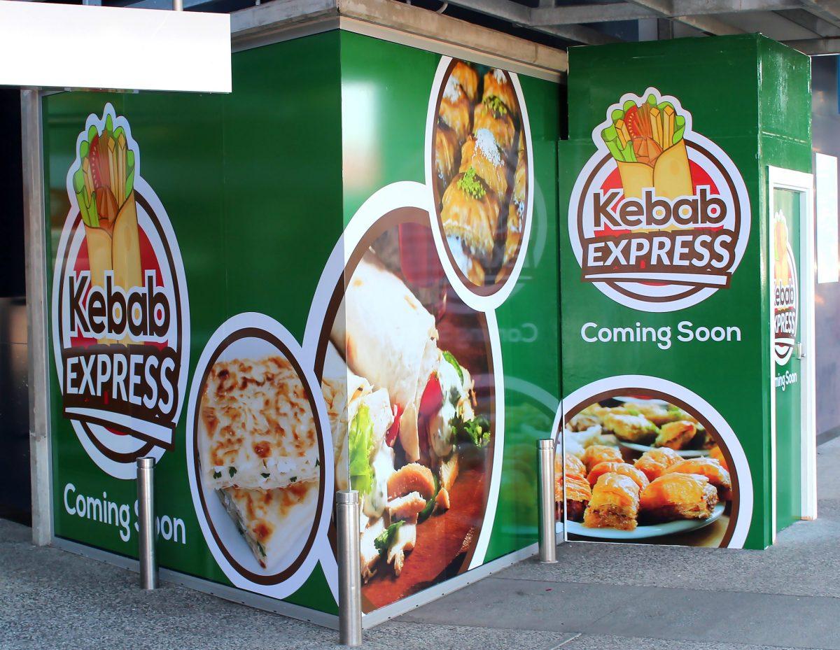 Kebab Express Hoarding